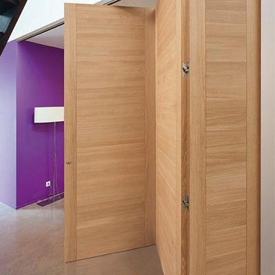 Puertas plegables de madera