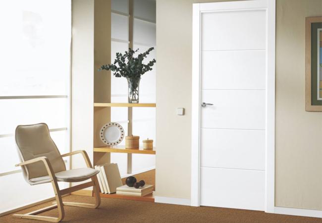 Puertas blancas interiores