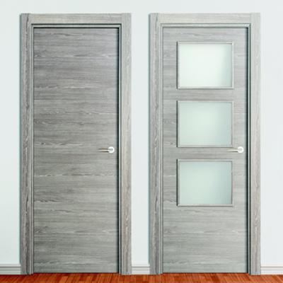 Modelos de puertas de madera en gris