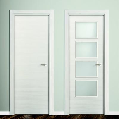 Puertas blancas con cristal