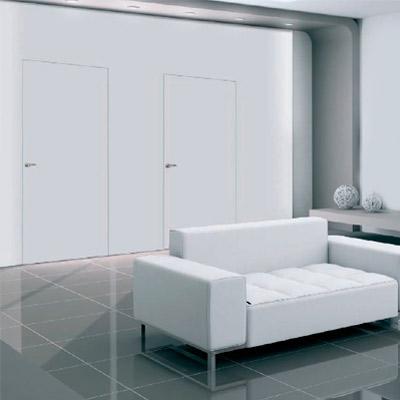 Puertas enrasadas blancas