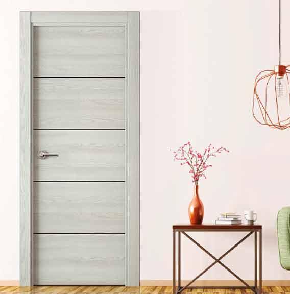 Puertas de madera en color gris