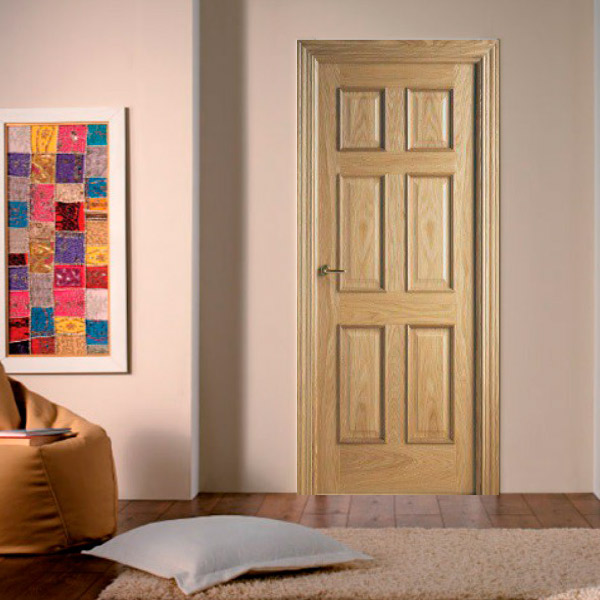 Puerta modelo 6012 RLV - Roble